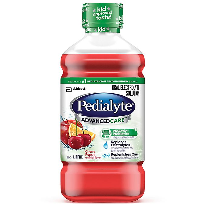 Alternate image 1 for Pedialyte® Advanced Care™ 1 Liter Oral Electrolyte Solution in Cherry Punch