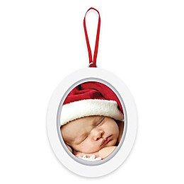 """Pearhead """"Baby's 1st Christmas"""" Babyprints Photo Ornament in White"""