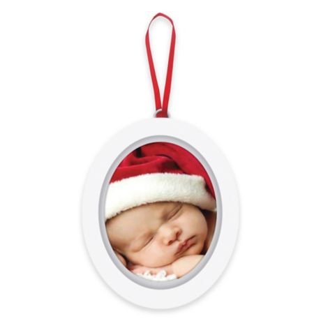 Pearhead Quot Baby S 1st Christmas Quot Babyprints Photo Ornament