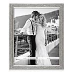 Arte De Casa 11-Inch x 14-Inch Triple Row Glitter Frame in Silver
