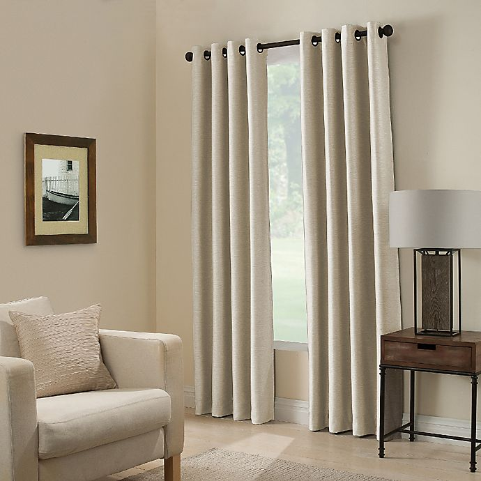 Alternate image 1 for Paradise 108-Inch Room Darkening Grommet Top Window Curtain Panel in Ivory