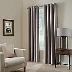 Paradise 63-Inch Room Darkening Grommet Top Window Curtain Panel in Stone