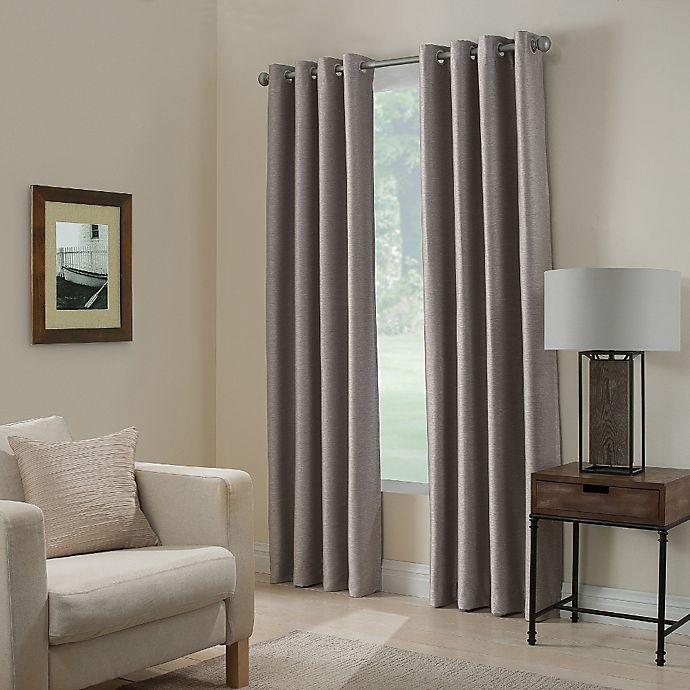 Alternate image 1 for Paradise 108-Inch Room Darkening Grommet Top Window Curtain Panel in Stone