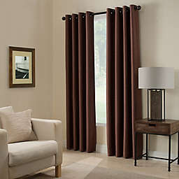 Paradise 108-Inch Room Darkening Grommet Top Window Curtain Panel in Spice