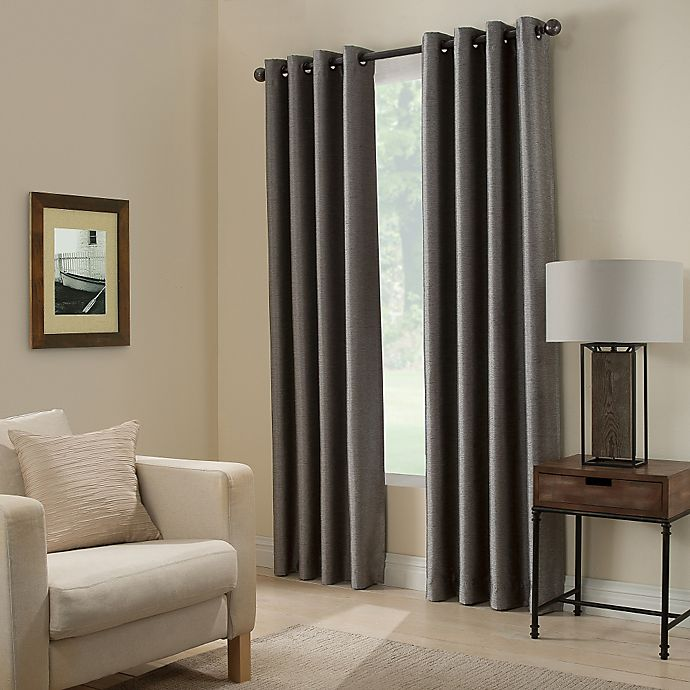Alternate image 1 for Paradise 63-Inch Room Darkening Grommet Top Window Curtain Panel in Pepper