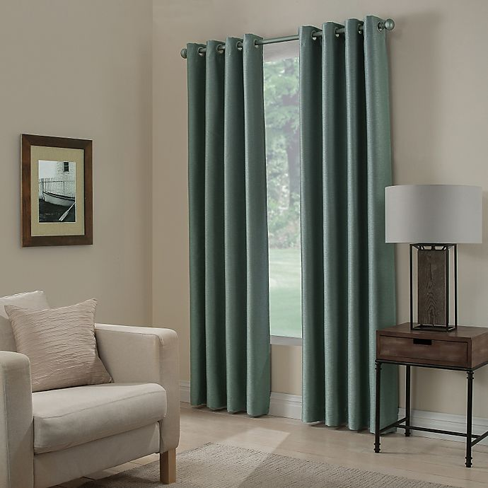 Alternate image 1 for Paradise 63-Inch Room Darkening Grommet Top Window Curtain Panel in Spa