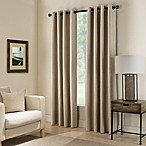 Paradise 84-Inch Room Darkening Grommet Top Window Curtain Panel in Flax