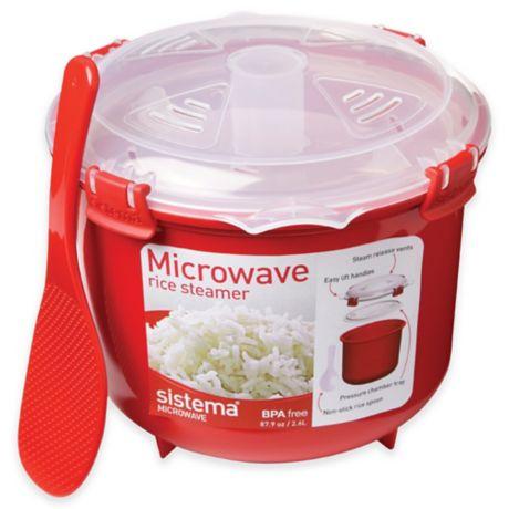 sistema 2 6 liter microwave rice steamer bed bath beyond. Black Bedroom Furniture Sets. Home Design Ideas