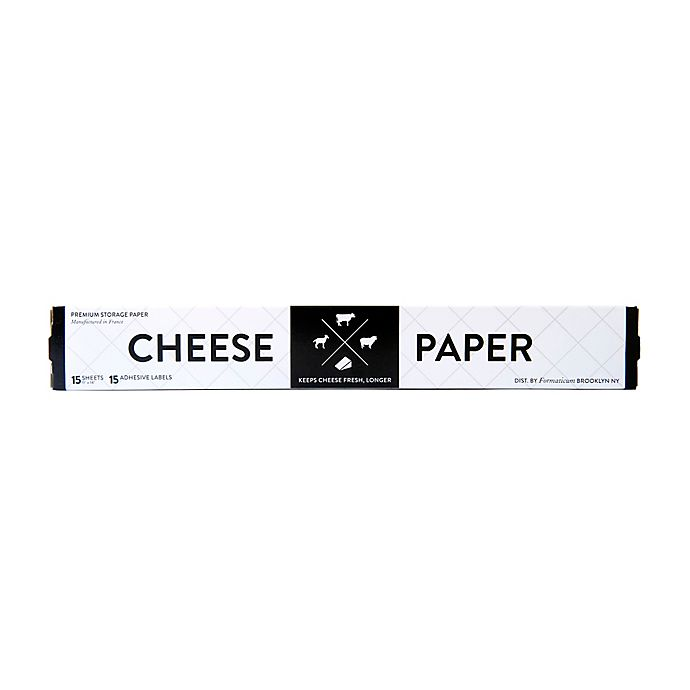 Alternate image 1 for Formaticum Cheese Storage Sheets with Adhesive Labels (Set of 15)