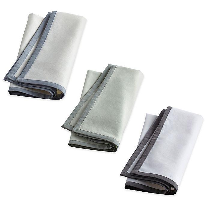 Alternate image 1 for Wamsutta® Bordered Linen Napkins (Set of 2)