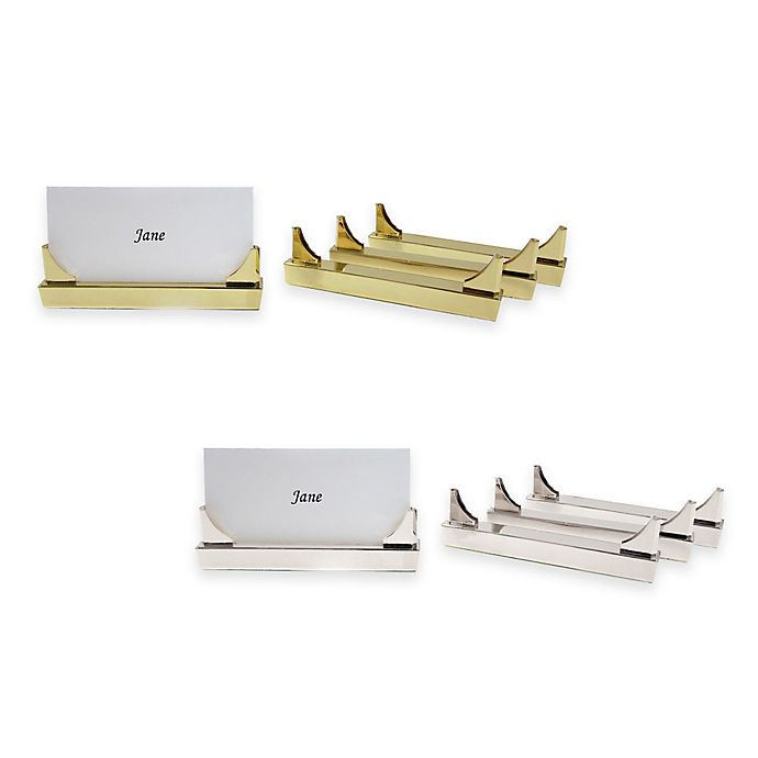 Alternate image 1 for Wamsutta® Collection Place Card Holders (Set of 4)