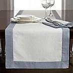 Wamsutta® Bordered Linen 72-Inch Table Runner in Blue