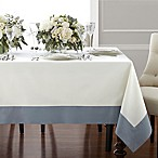 Wamsutta® Bordered Linen 70-Inch x 144-Inch Oblong Tablecloth in Blue