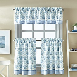 St. Lucia 36-Inch Window Tier and Valance Curtain Set