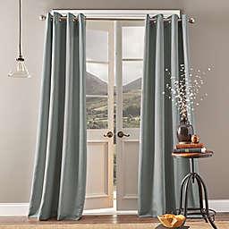Bedeck Landon 84-Inch Grommet Room Darkening Window Curtain Panel in Grey