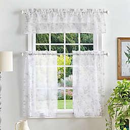 Martha Stewart Bellefield Sheer 36-Inch Window Curtain Tiers and Valance