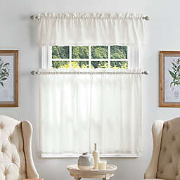 Martha Stewart Bedford 36-Inch Window Curtain Tier Pair and Valance