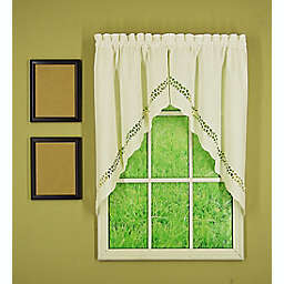 Today's Curtain® Hellina Tapework 2-Pack Kitchen Window Swag Valances