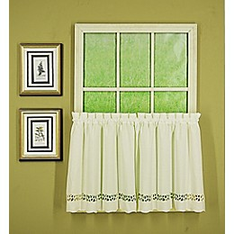 Today's Curtain® Hellina Tapework 2-Pack Kitchen Window Curtain Tiers