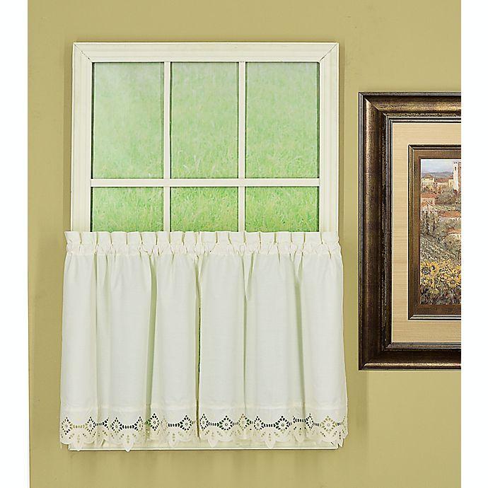 Alternate image 1 for Today's Curtain Heirloom Battenberg 24-Inch Kitchen Window Curtain Tier Pair in Ecru