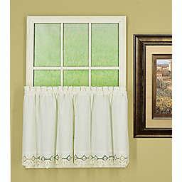 Today's Curtain Heirloom Battenberg Kitchen Window Curtain Tier Pair