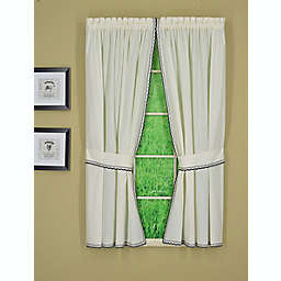 Today's Curtain Alpine 2-Pack 63-Inch Light Filtering Window Curtain Panels in Ecru/Navy