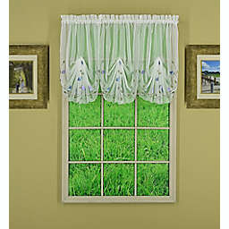Today's Curtain Napa Window Swag Valance in White/Multi