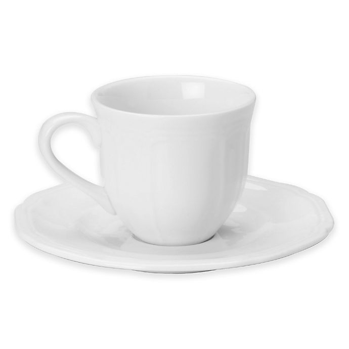Alternate image 1 for Mikasa® Antique White Espresso Cup and Saucer