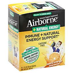 Airborne® + Natural Energy 10-Count 1 fl. oz. Ready to Drink Liquid Shots in Zesty Orange