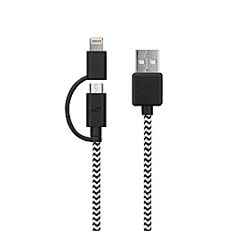 MyTech 6-Foot Multicolor Braided Nylon Micro USB & Lightning Cable