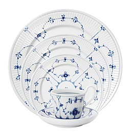 Royal Copenhagen Fluted Plain Dinnerware Collection in Blue