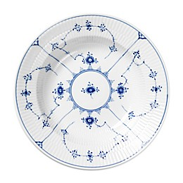 Royal Copenhagen Fluted Plain Rim Soup Bowl in Blue