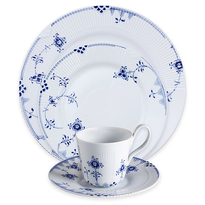 Alternate image 1 for Royal Copenhagen Elements Dinnerware Collection in Blue