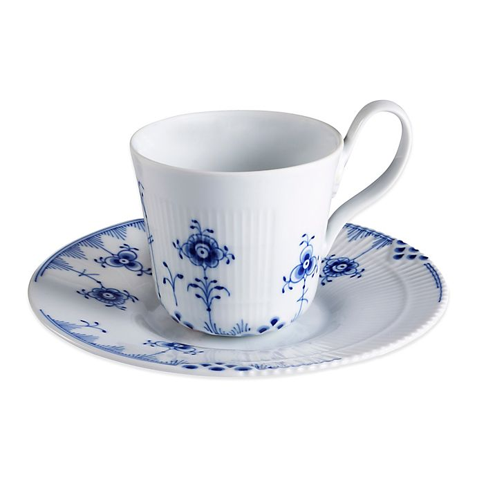 Alternate image 1 for Royal Copenhagen Elements High Handle Cup and Saucer in Blue