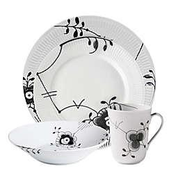 Royal Copenhagen Fluted Mega Dinnerware Collection in Black