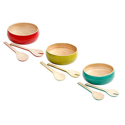 Gibson Overseas Bamboo 3-Piece Salad Set