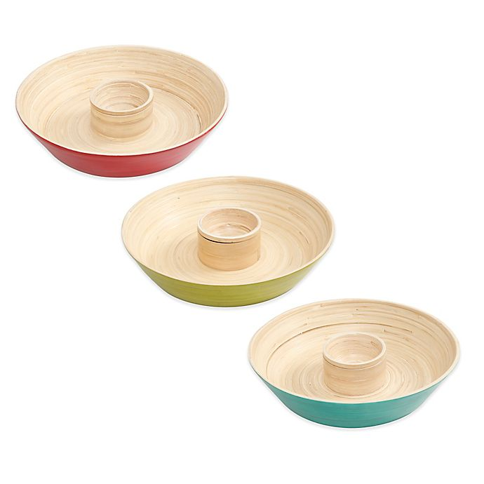 Alternate image 1 for Gibson Overseas Bamboo Chip & Dip Tray