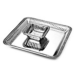Wilton Armetale® Flutes & Pearls 2-Piece Chip 'n Dip Dish