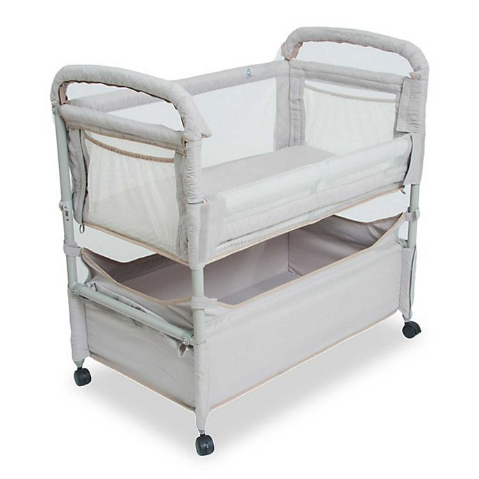 Alternate image 1 for Arm's Reach® Clear-Vue™ Co-Sleeper® with Deep Basket in Grey