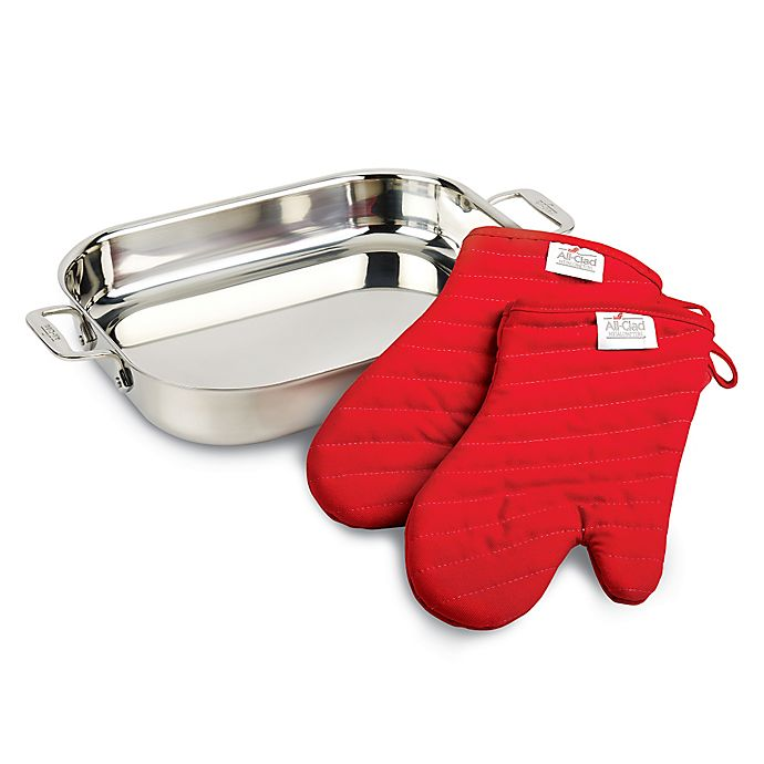 Alternate image 1 for All-Clad Stainless Steel Lasagna Pan Gift Set