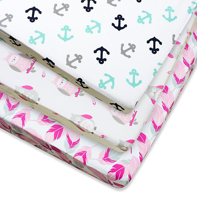 Alternate image 1 for Wendy Bellissimo™ Mix & Match Fitted Crib Sheets