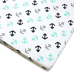 Wendy Bellissimo™ Mix & Match Anchor Fitted Crib Sheet in Grey/Teal