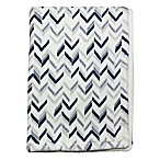 Wendy Bellissimo™ Mix & Match Chevron Plush Blanket in Grey/Navy