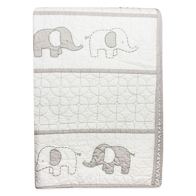 Alternate image 1 for Wendy Bellissimo™ Mix & Match Elephant Quilt in Grey