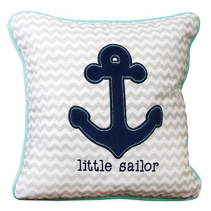 Alternate image 1 for Wendy Bellissimo™ Mix & Match Anchor Chevron Throw Pillow