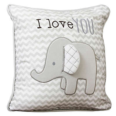 """Wendy Bellissimo™ Mix and Match """"I Love You"""" Throw Pillow in Grey"""