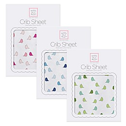 SwaddleDesigns® Little Chickies Flannel Fitted Crib Sheet
