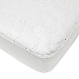 TL Care® Waterproof Fitted Crib and Toddler Protective Mattress Pad in White