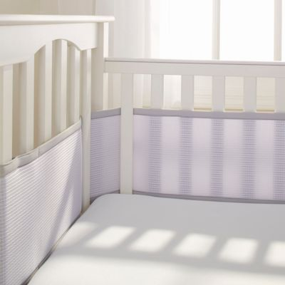 Breathable Baby 174 Deluxe Breathable Mesh Crib Liner In Grey