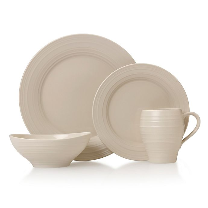 Alternate image 1 for Mikasa® Swirl 4-Piece Place Setting in Cream
